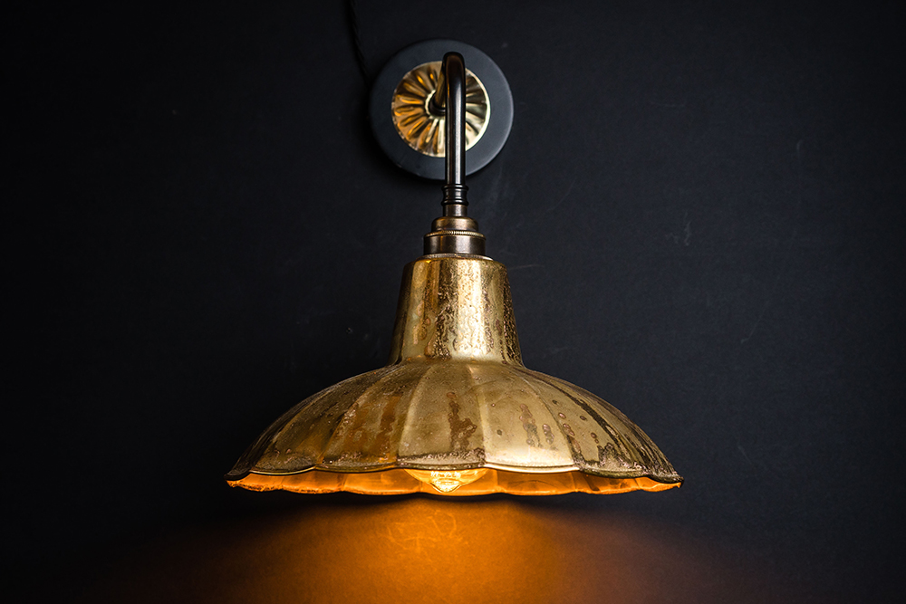 Crimped aged brass and bronze wall light 03.jpg