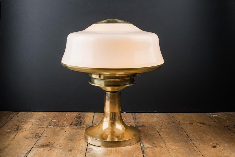 Opaline Gl And Br Bar Top Lamp Felix Lighting