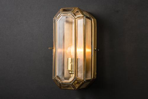 medium old english brass lozenge wall light 02.jpg