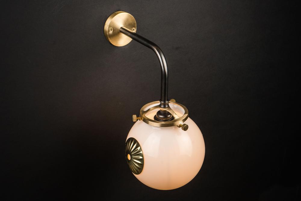 brass, bronze and opaline globe wall light 03.jpg