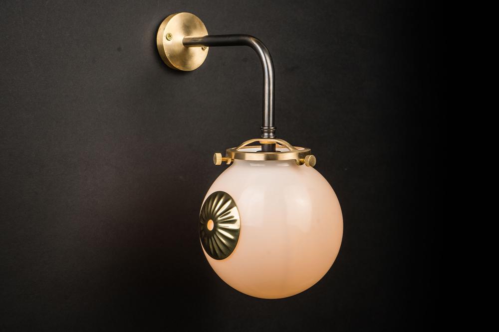 brass, bronze and opaline globe wall light 02.jpg