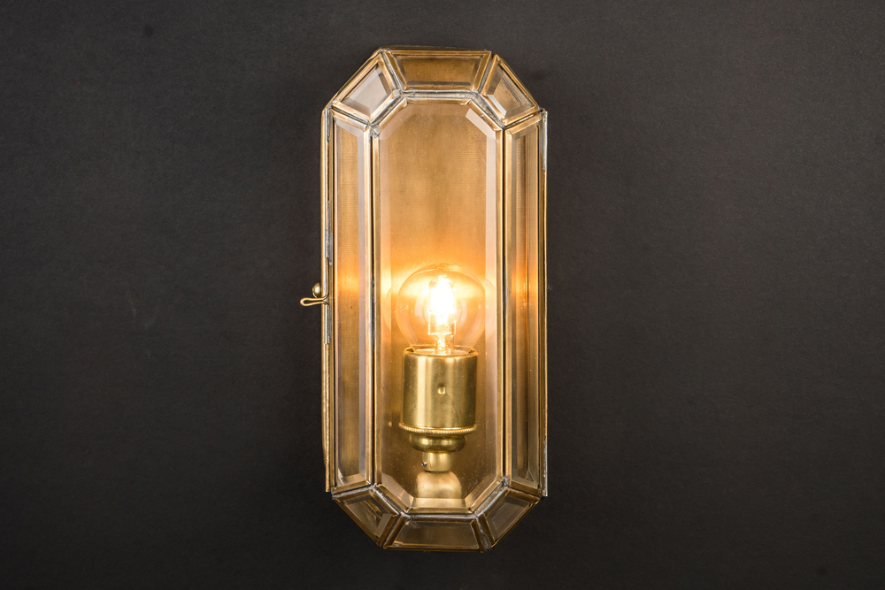 medium old english brass lozenge wall light .jpg