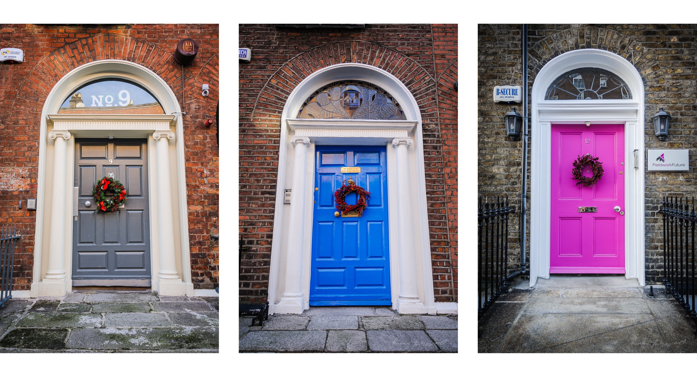 Festive doorways as seen around Dublin