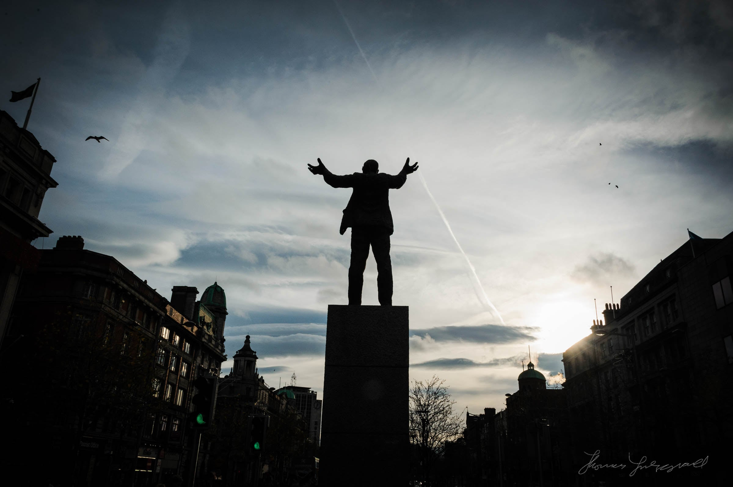 Statue on O'Connell Street, Dublin