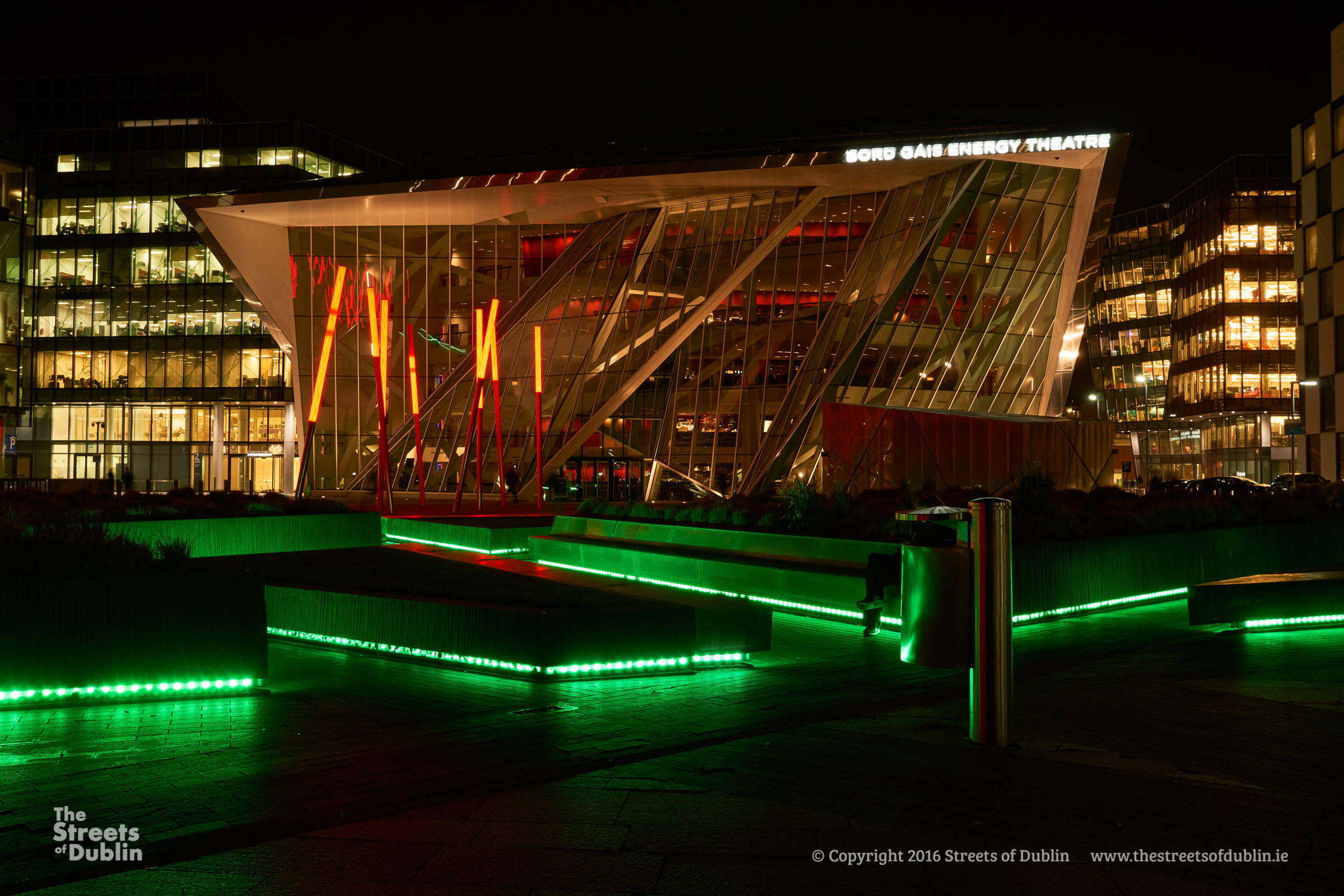 Grand Canal Dock at Night - The Streets of Dublin
