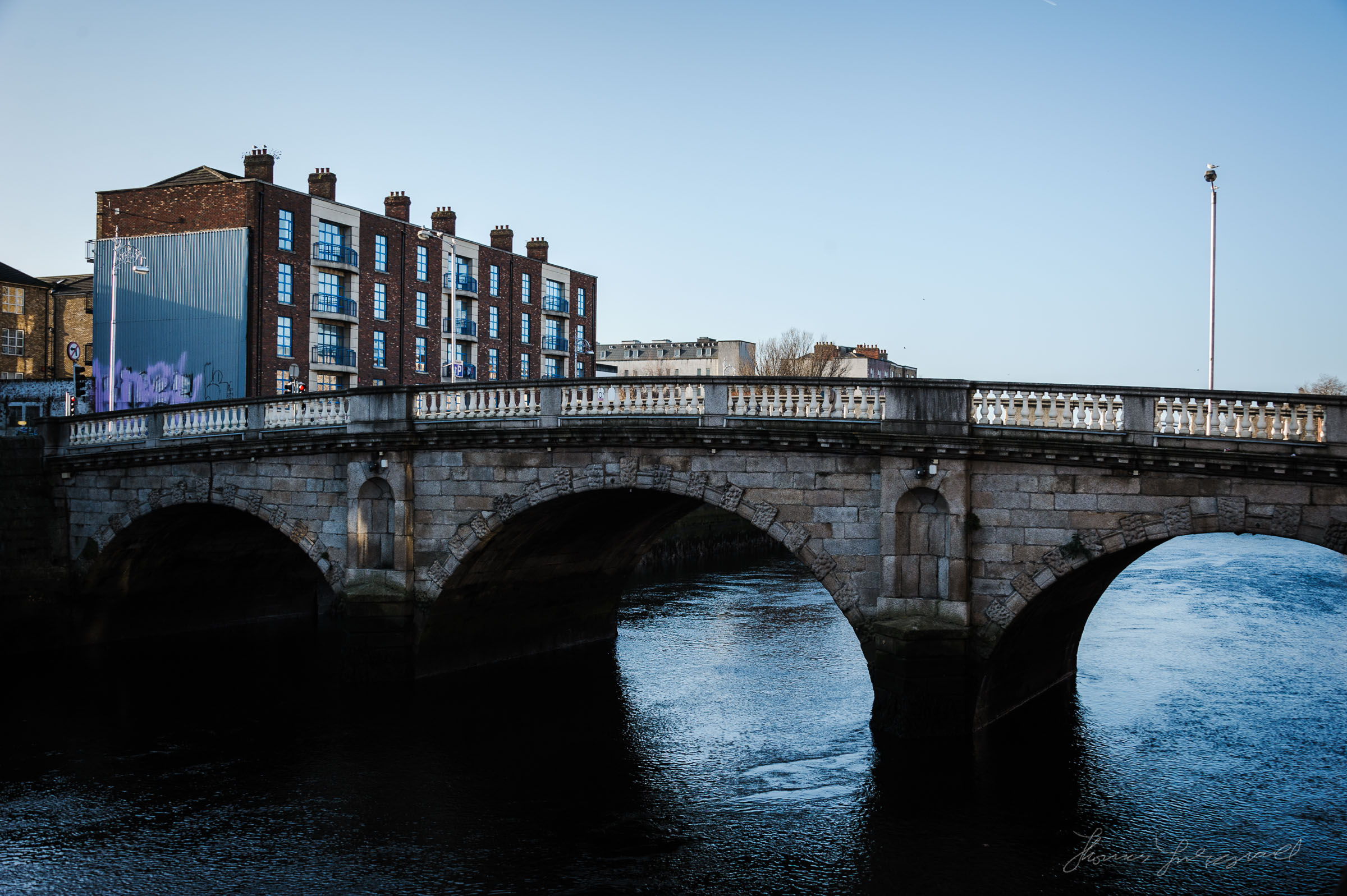 Bridge over the River Liffey in Dublin
