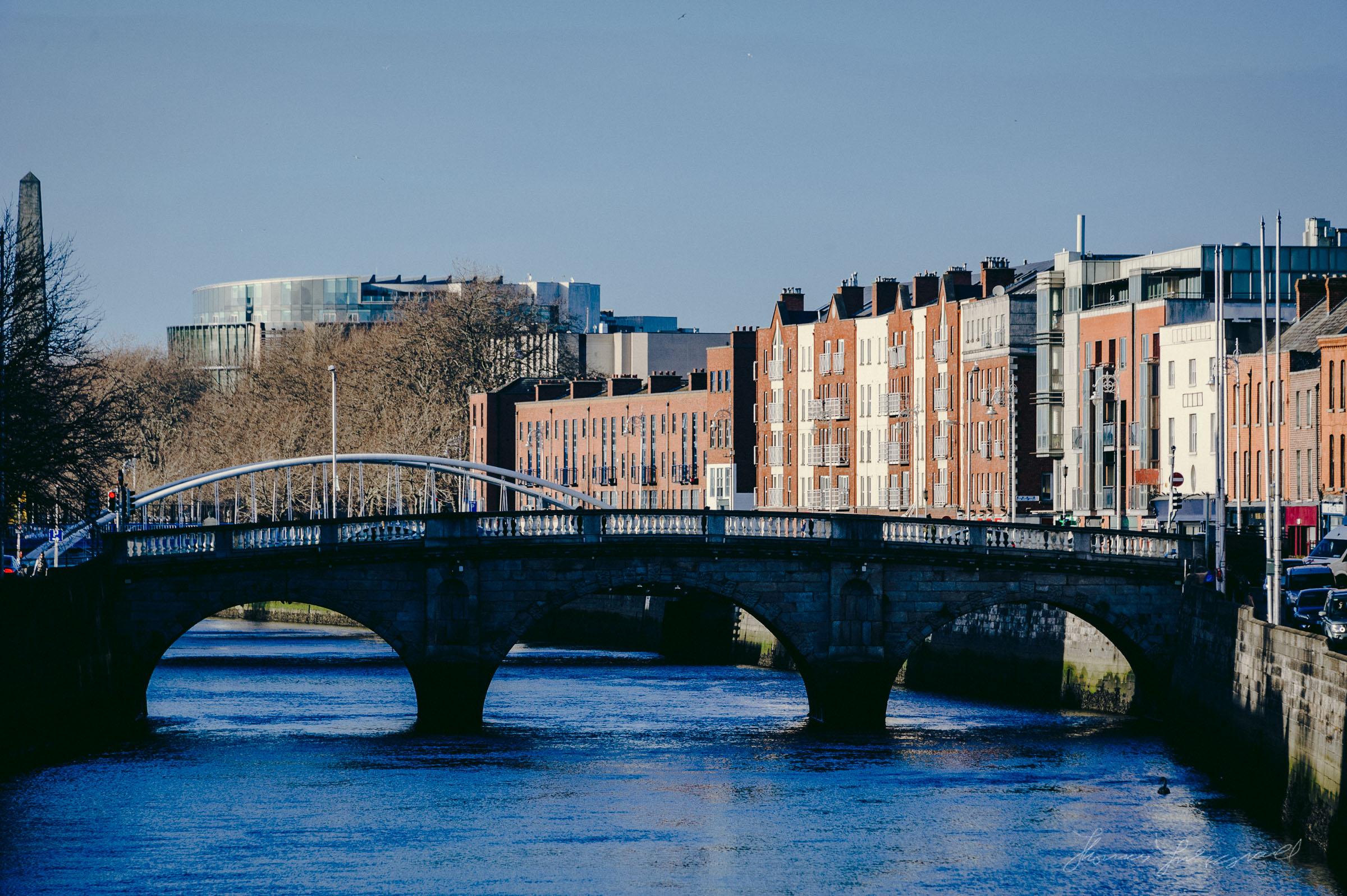 A December Walk along the Liffey - Bridges in the Distance