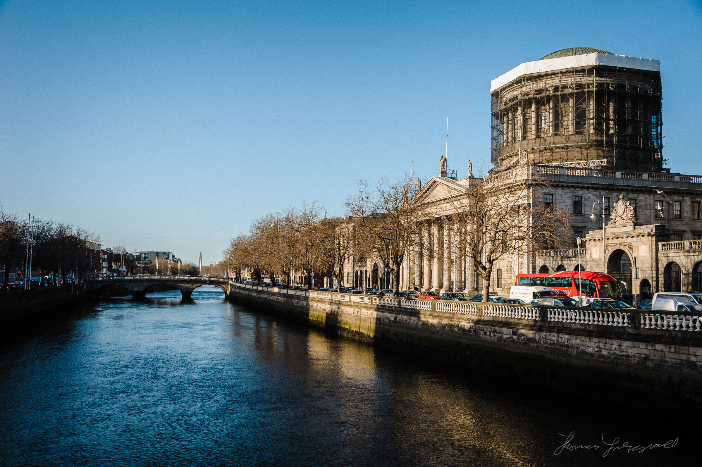 The Four Courts - A December Walk along the Liffey