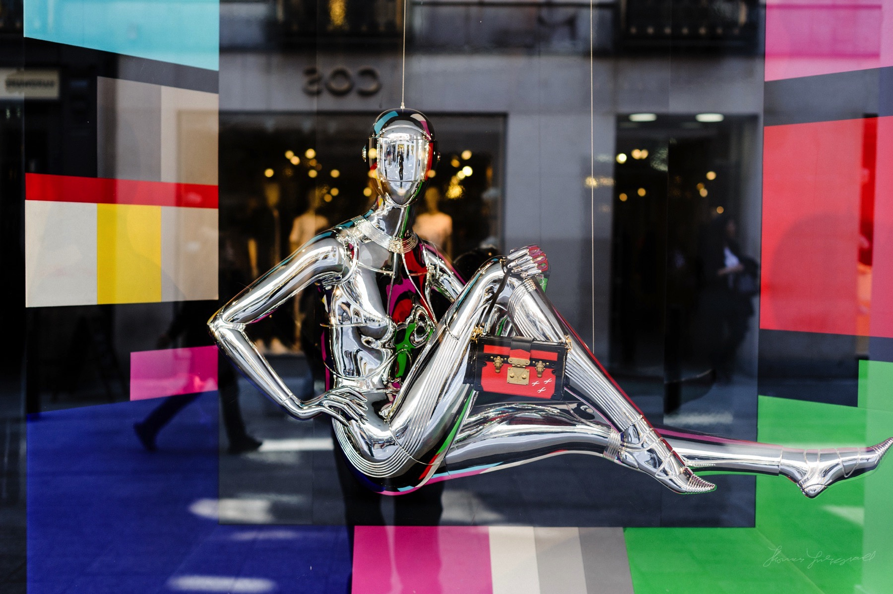 Robot styled Mannequin in the Window of Brown Thomas in Dublin