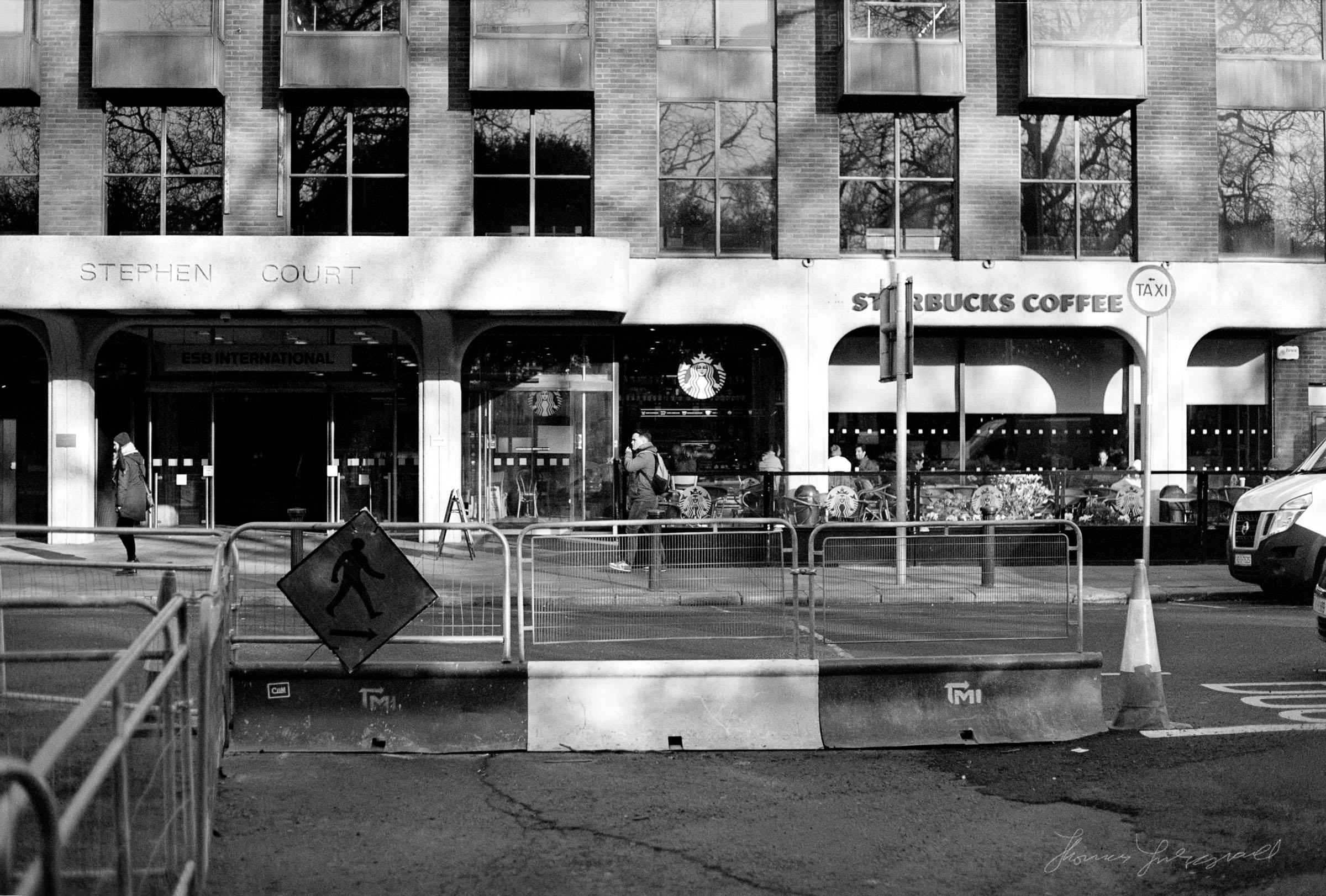 Outside Starbucks on Stephen's Green - Streets of Dublin - Dublin on Film