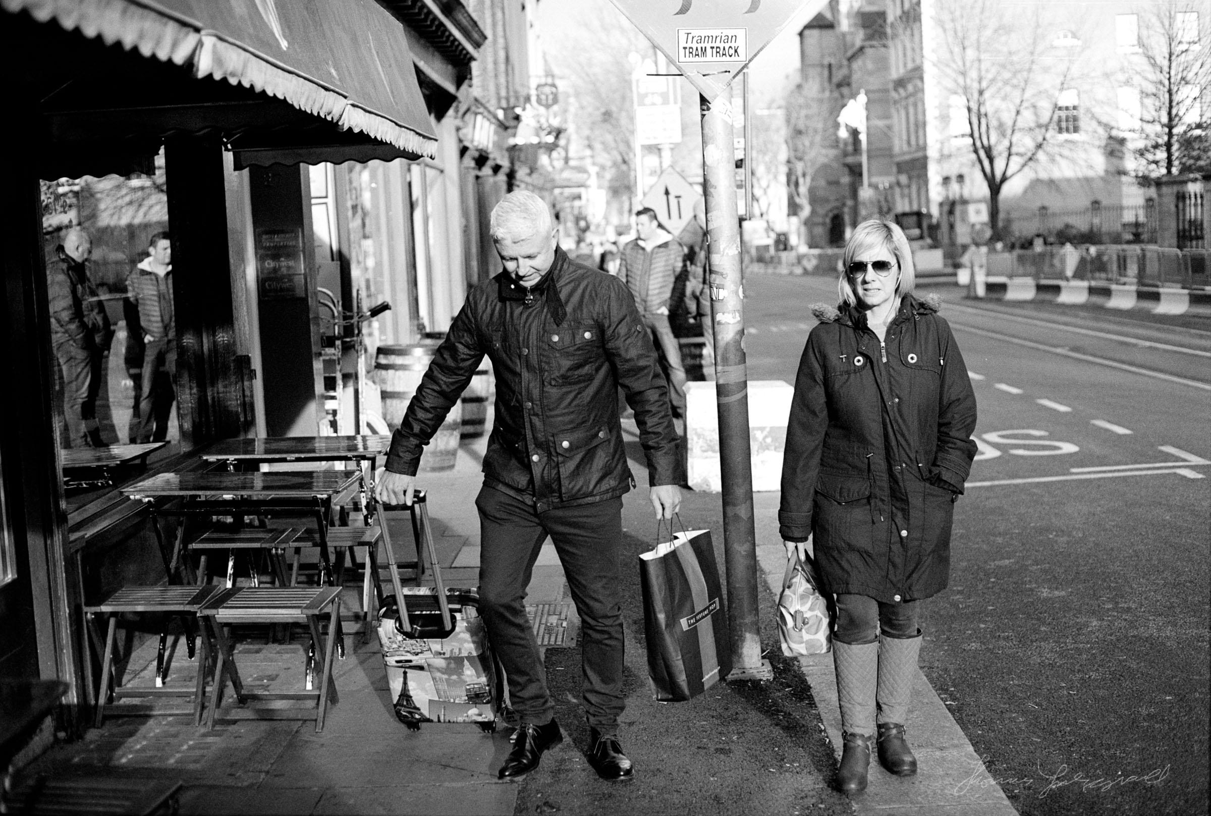 People walking on Dawson Street - Streets of Dublin - Dublin on film
