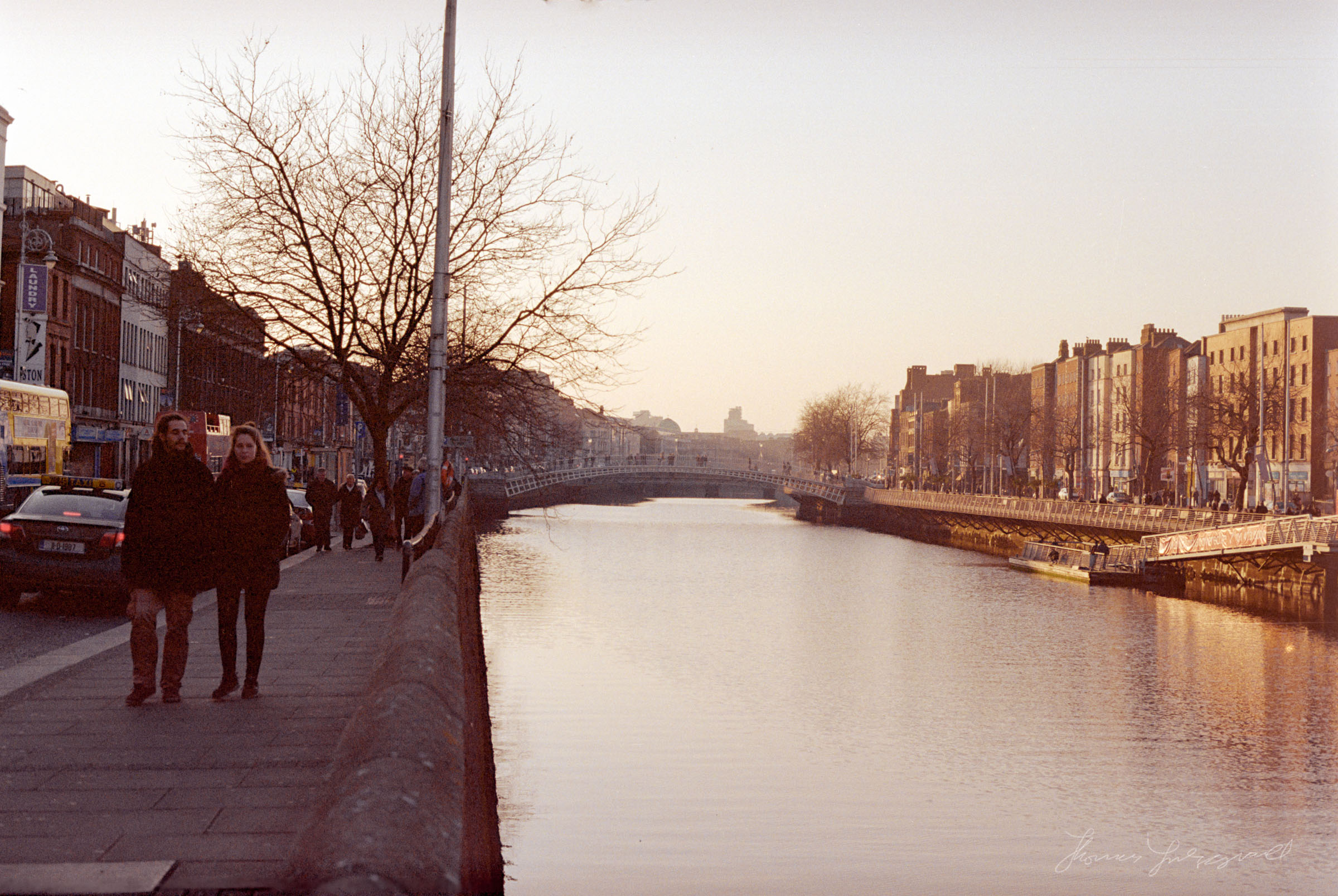 Walking by the Liffey at Sunset - Dublin on Film - The Streets of Dublin