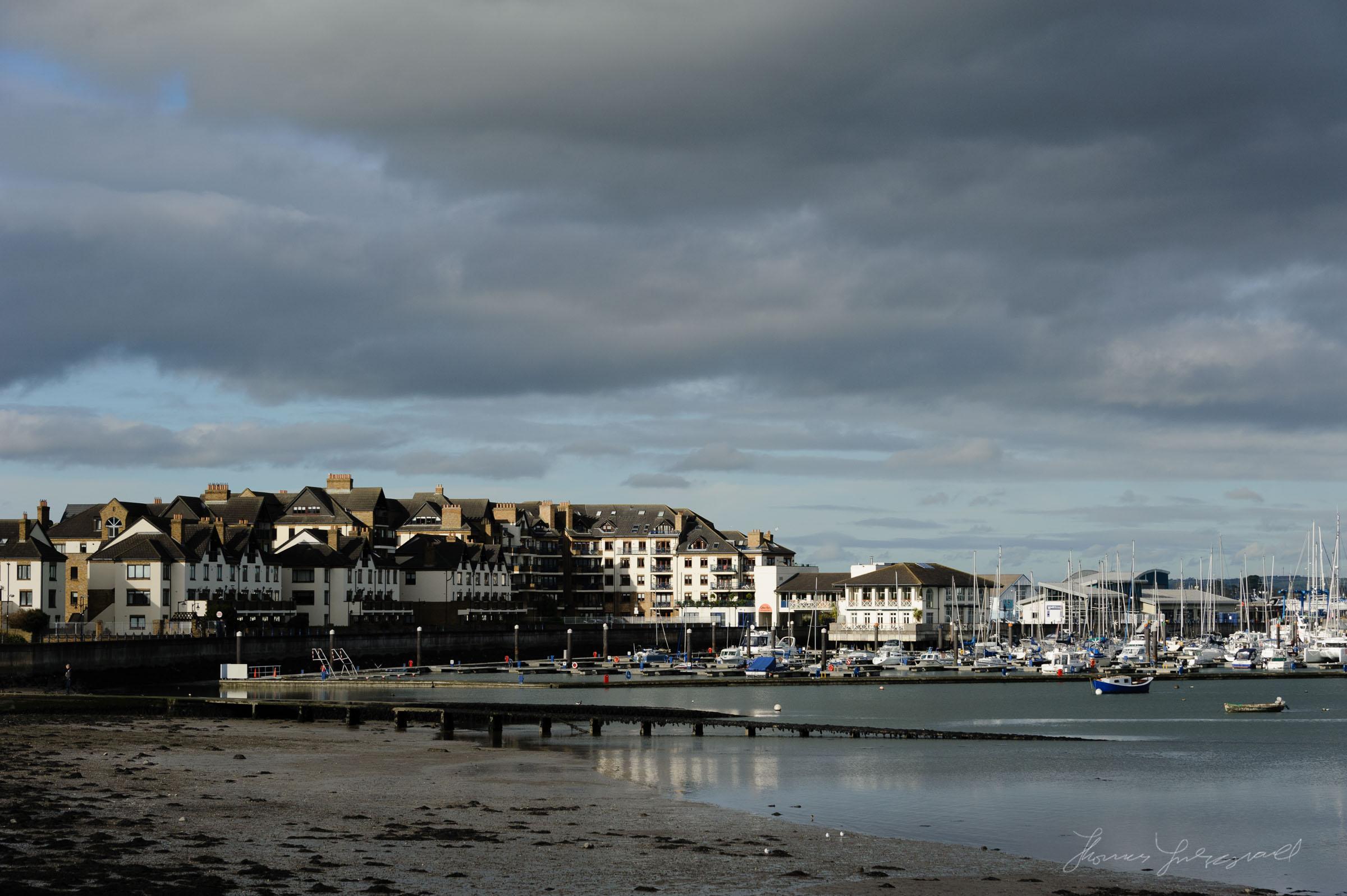 Moody Sky over the Marina in Malahide