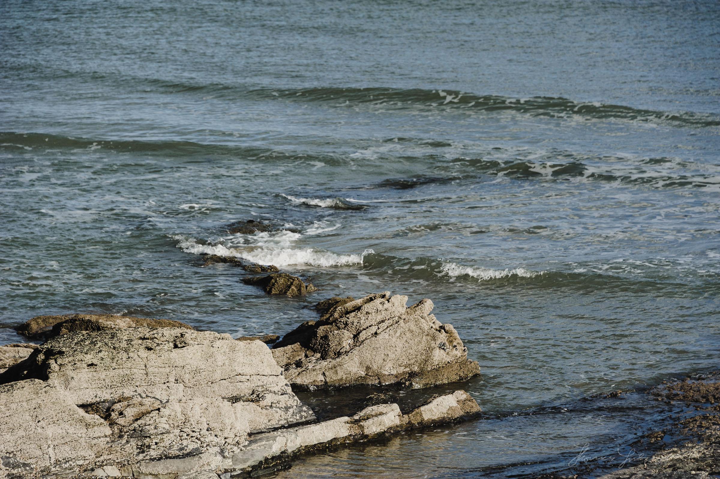 Rocky outcrop in the Irish sea, malahide Co. Dublin