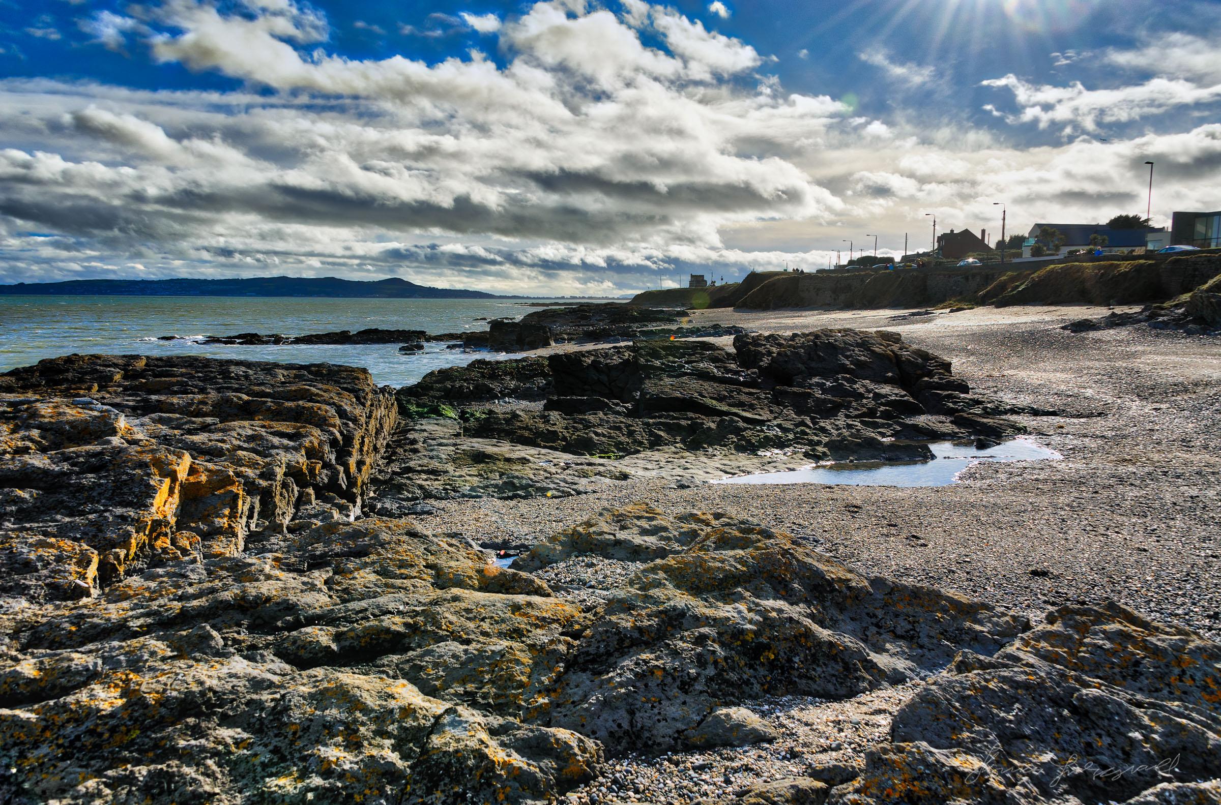 Rocky beach between Malahide and Portmarnock