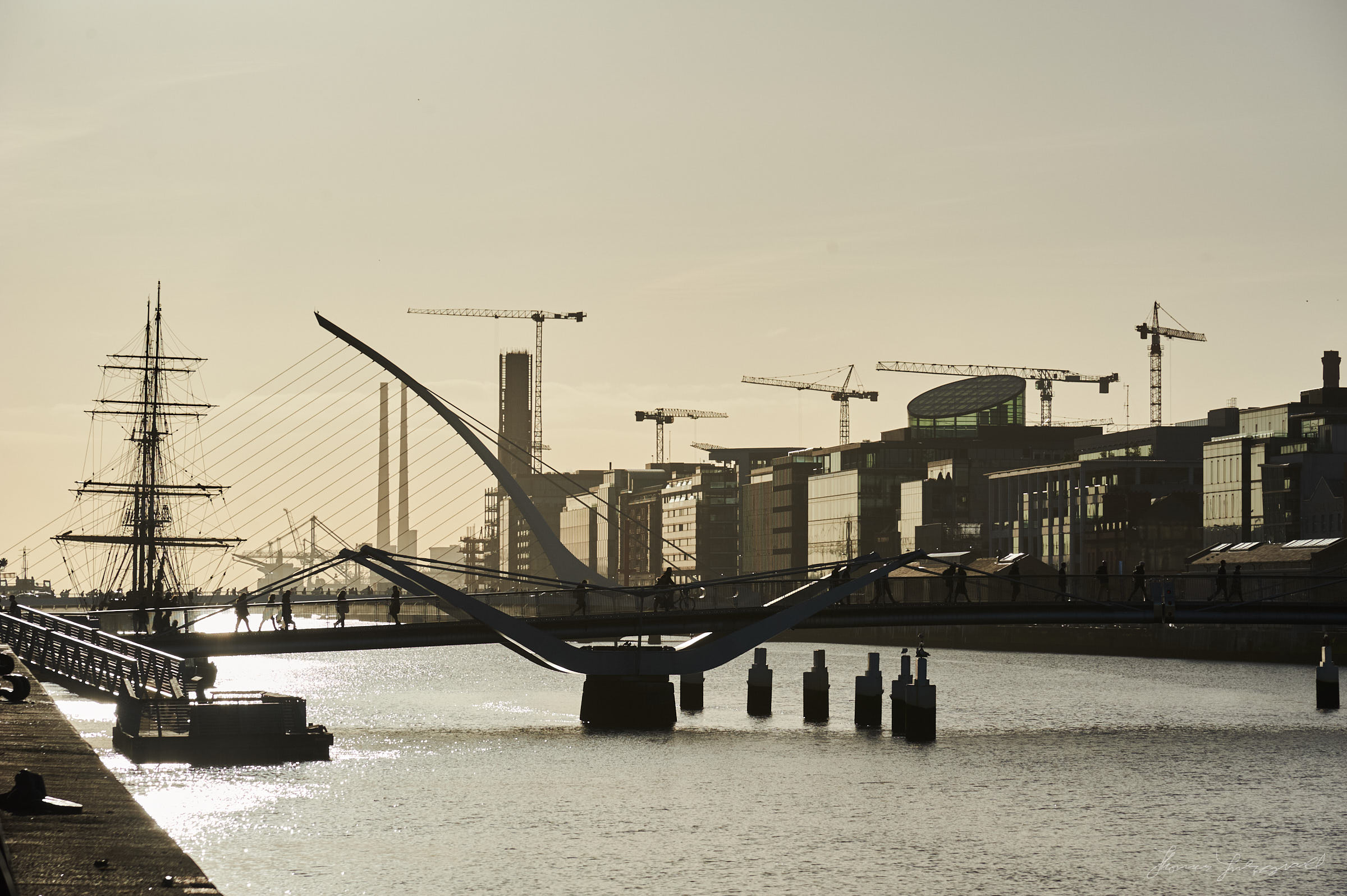 Bridges over the liffey in the Golden Light