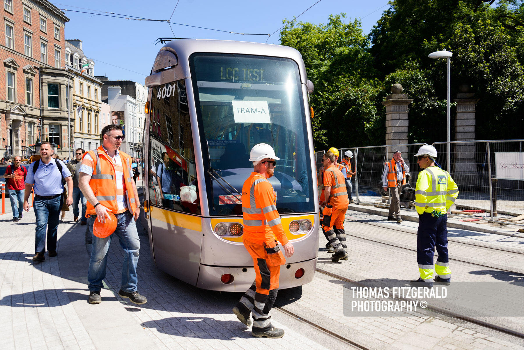 Luas Testing at Stephen's Green