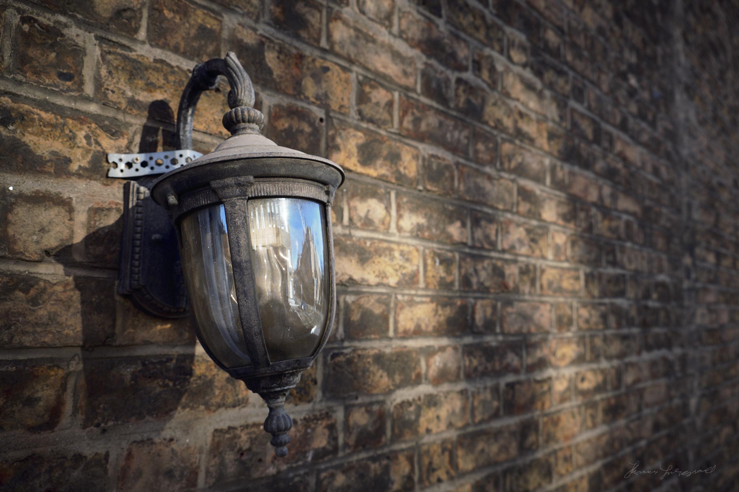 Ornate Lamp outside a building in Dublin