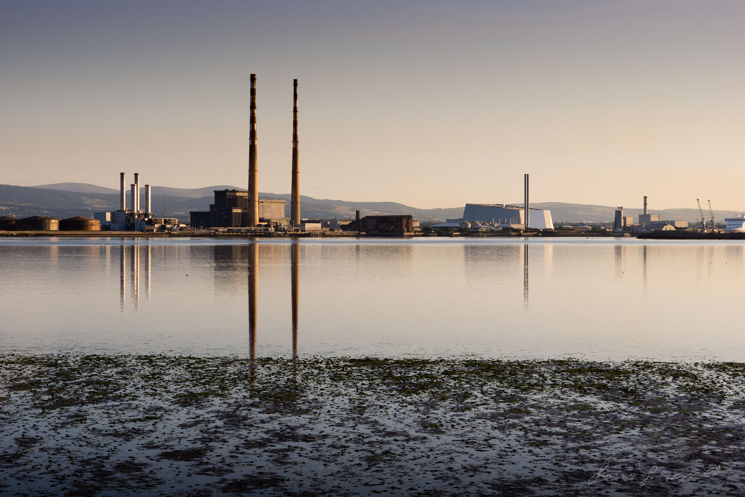Poolbeg Towers from Bull Island