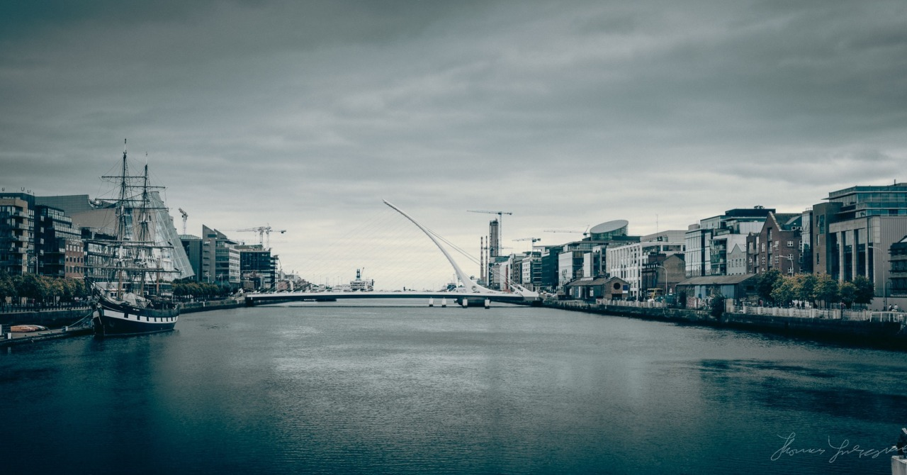 Moody sky over the Liffey