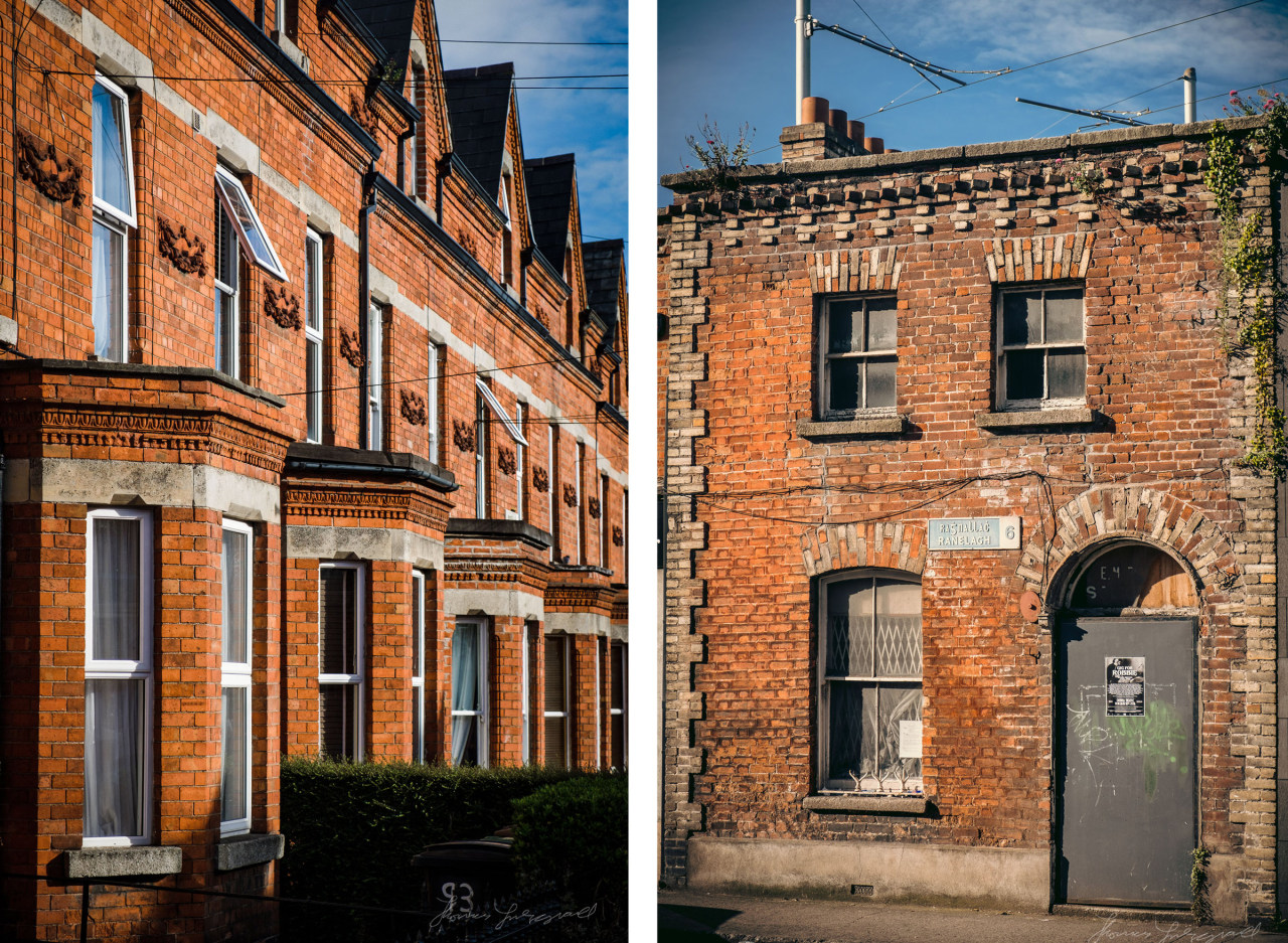Red brick houses in Ranelagh