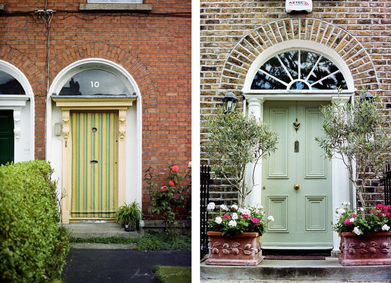 Dublin has so many colourful doors