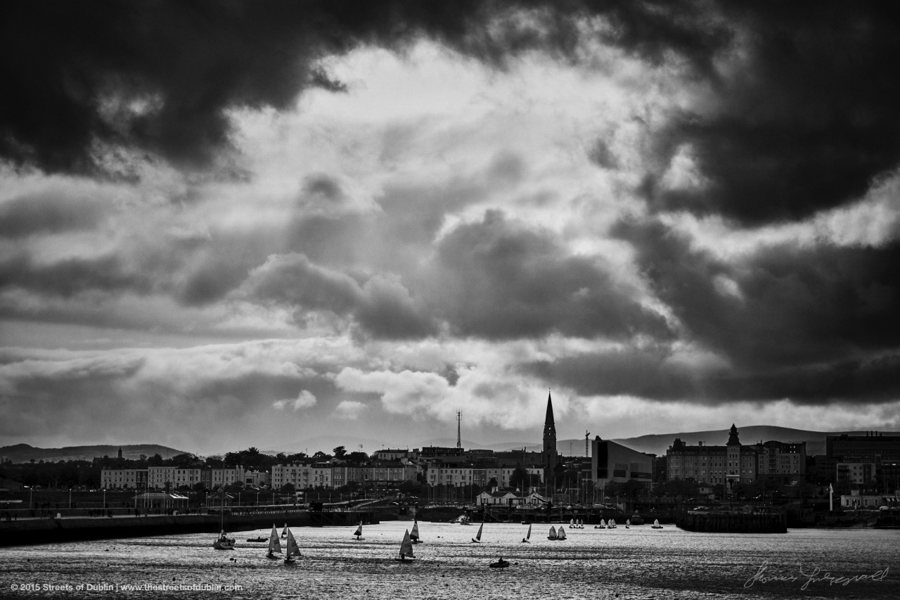 Moody clouds over Dun Laoghaire this weekend