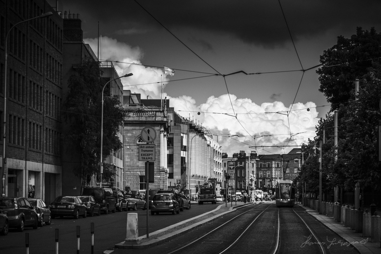 A moody sky over Dublin yesterday morning! I love the fluffy clouds in the distance!