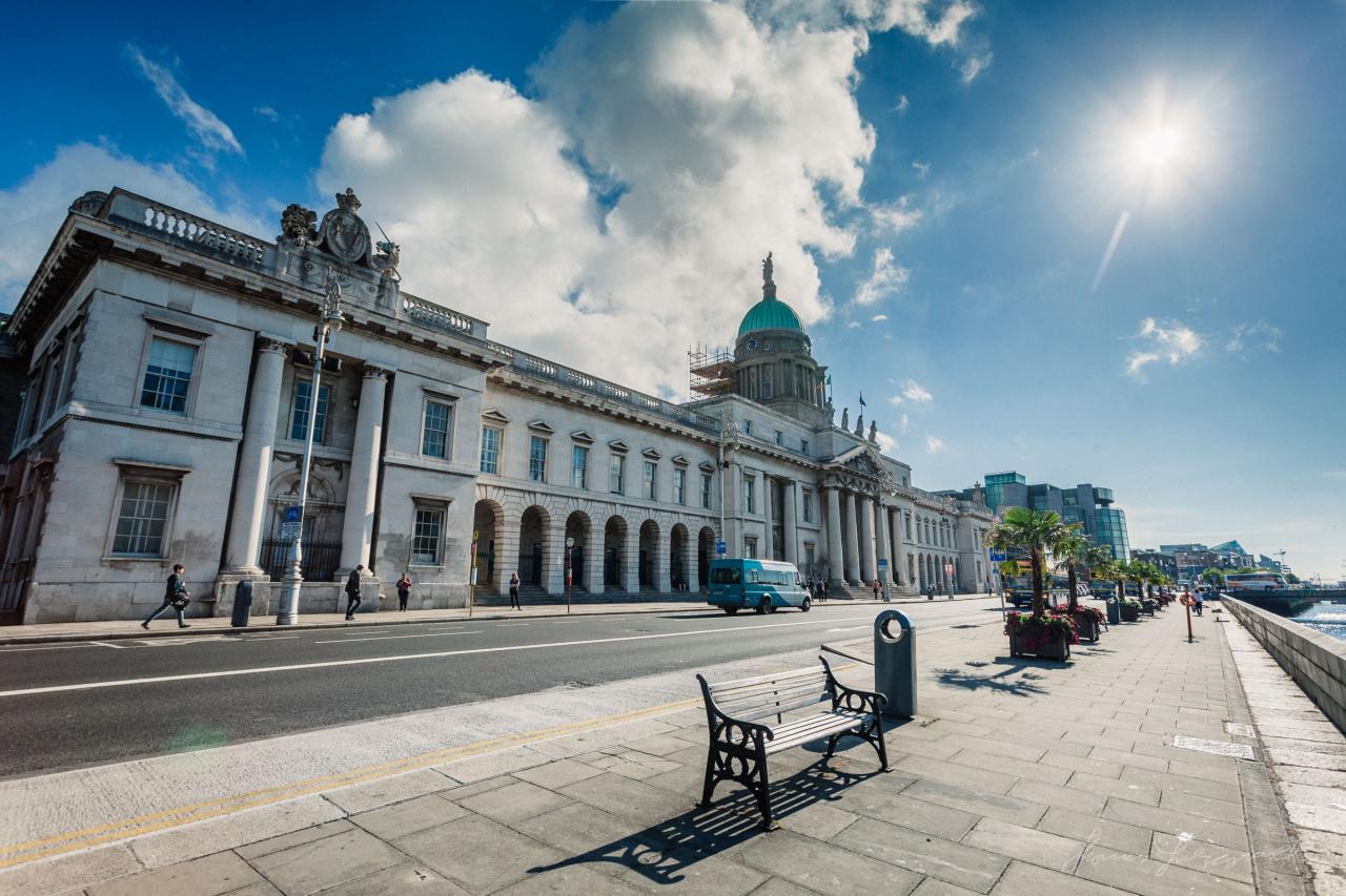 Sunshine over Dublin's Custom House
