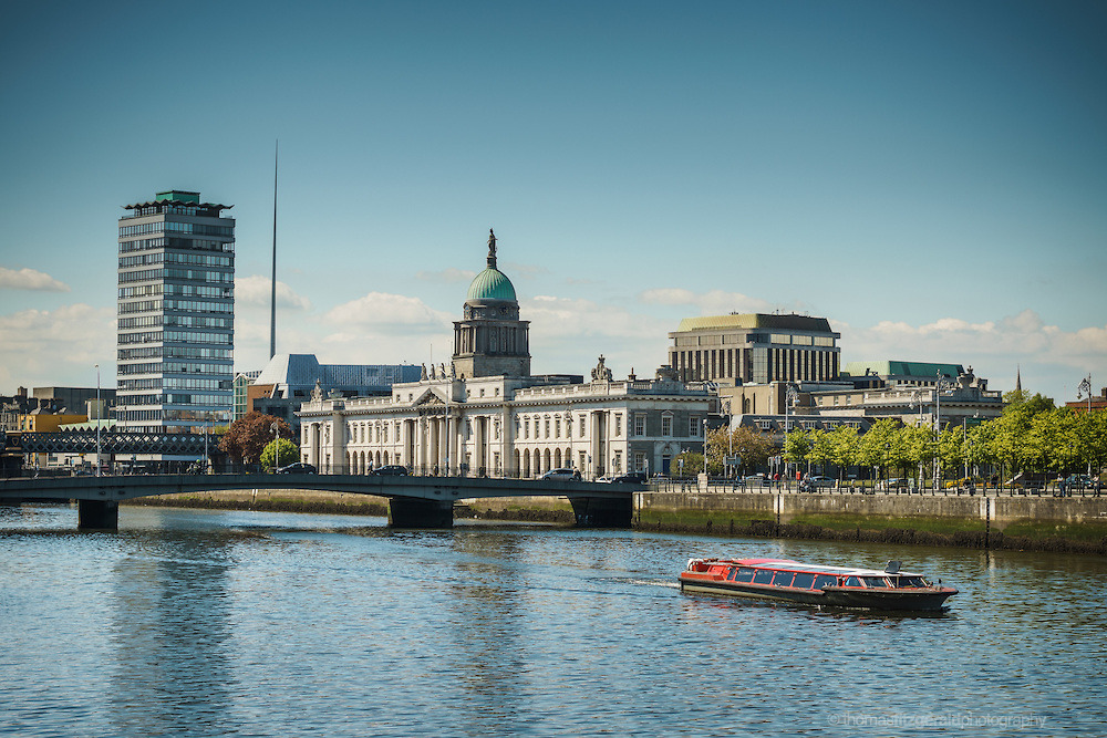 Here's one from the Archive, From a few summers ago - The Tour Boat on the Liffey with the Customs house in the background  Now available as a Print as part of my limited Print selection!  (via  THOMAS FITZGERALD PHOTOGRAPHY )