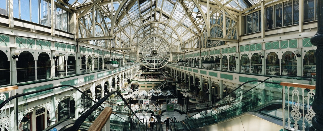 fxgeek :     Panoramic shot of Dublin's Stephens shopping centre