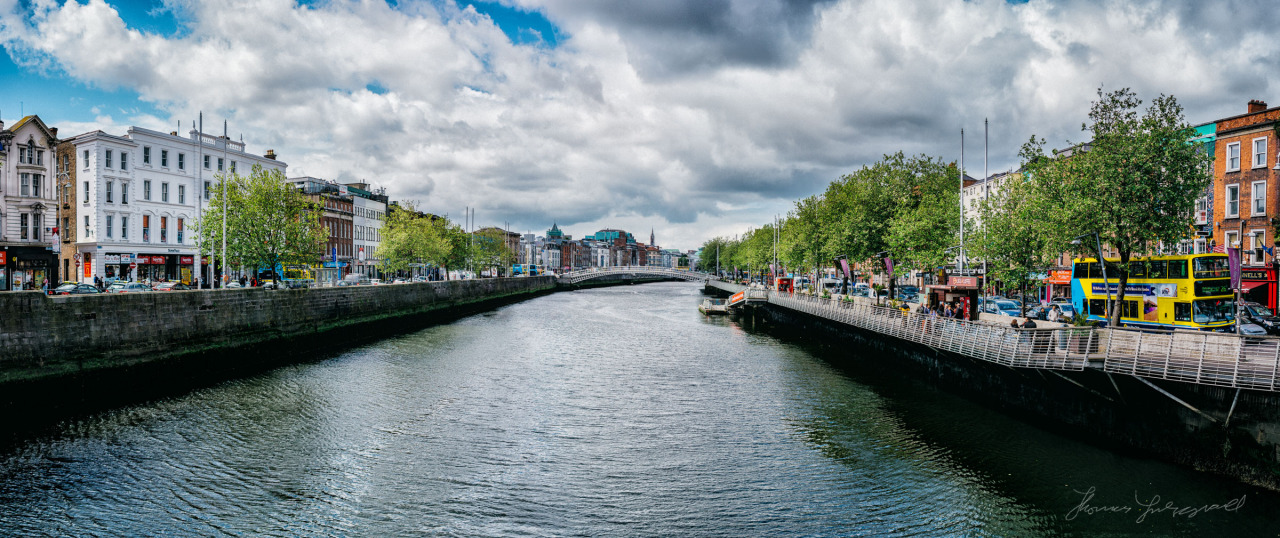 The River Liffey on a moody day(You can view up close on  Flickr )