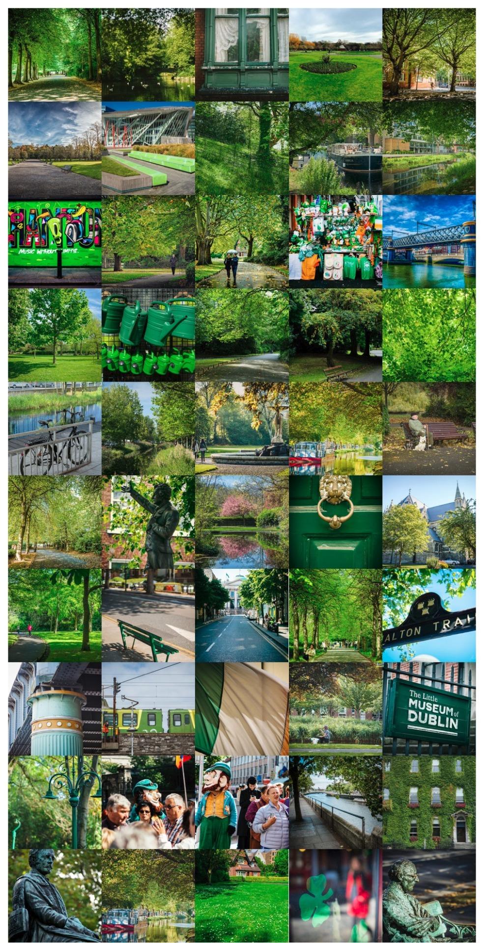 Dublin's 50 shades of green
