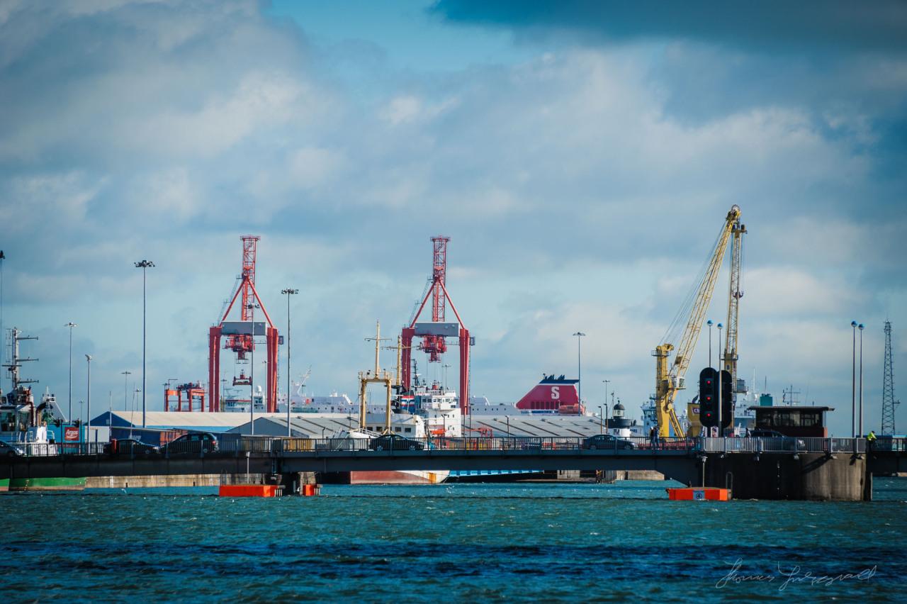 Cranes at Dublin port
