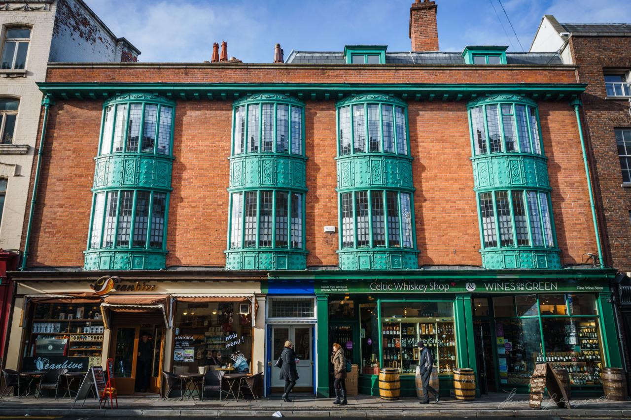 Beautiful windows on Dawson Street
