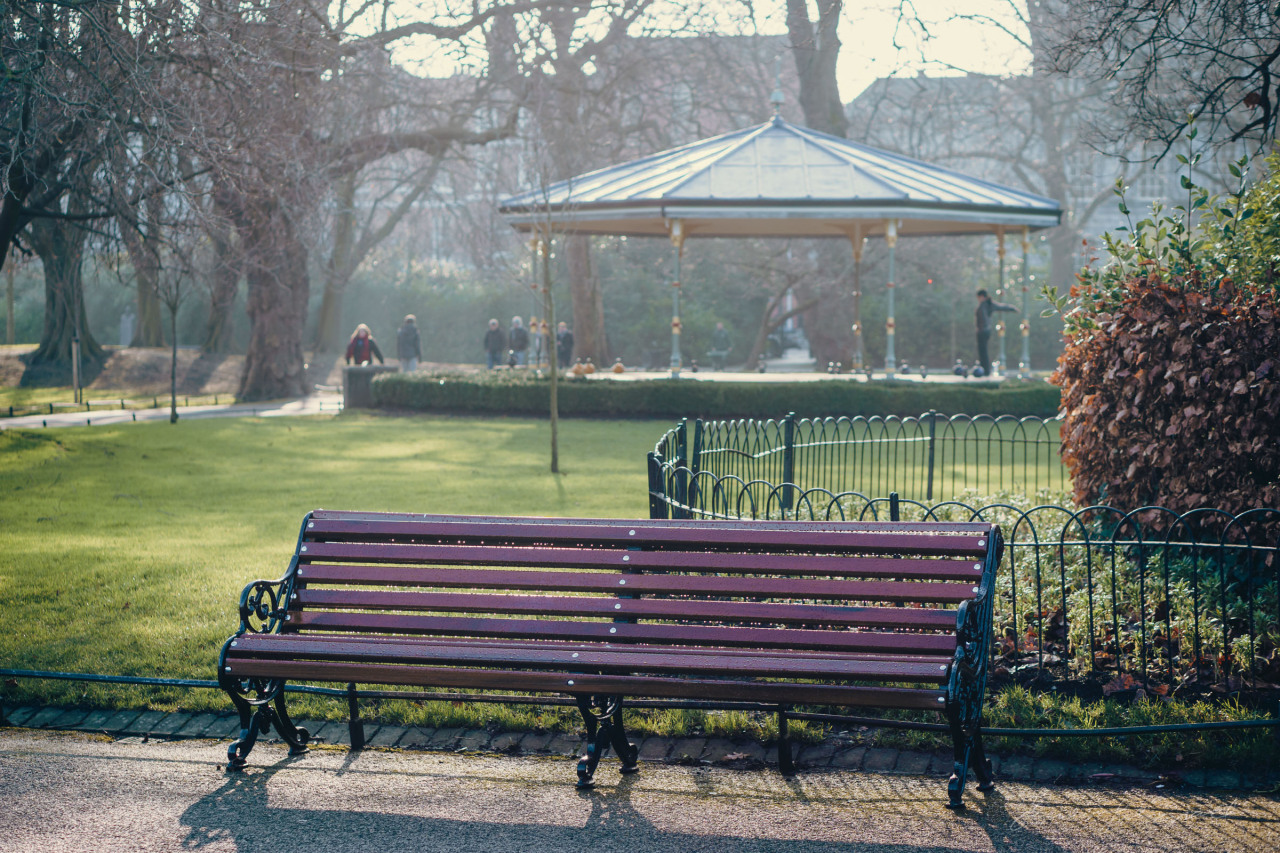 Lonely bench in Stephen's Green