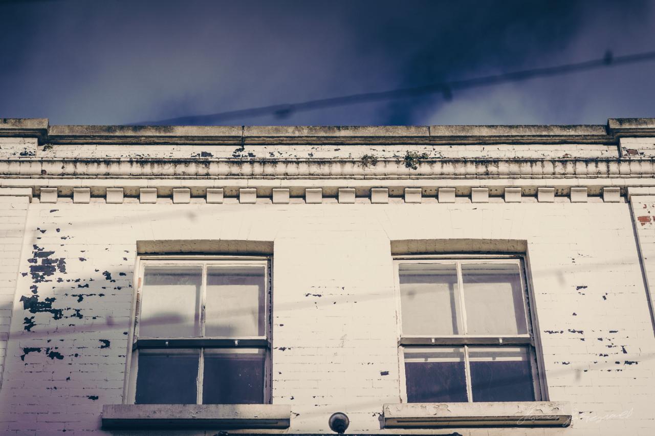 White building against Dublin's winter sky