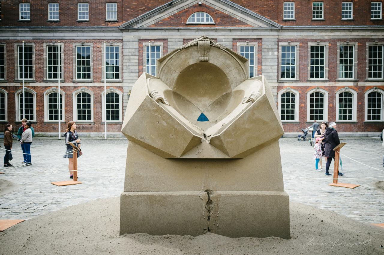 Sand sculpture in Dublin Castle