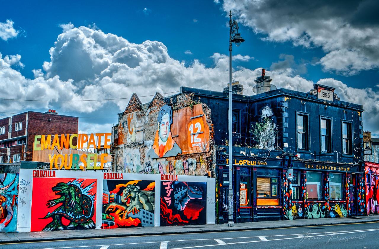 Street art and vibrant colours of Dublin