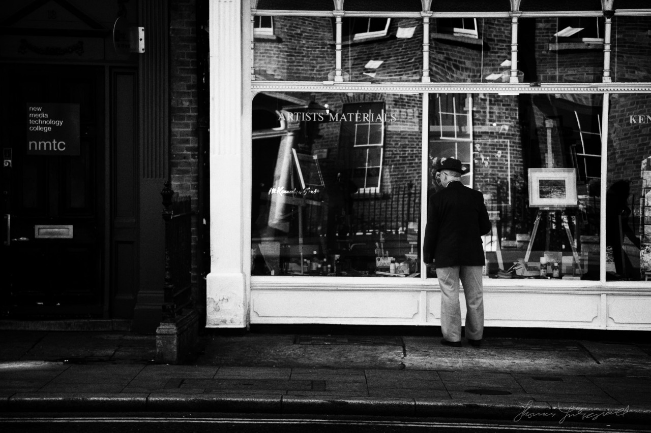 Window shopping on Harcourt Street
