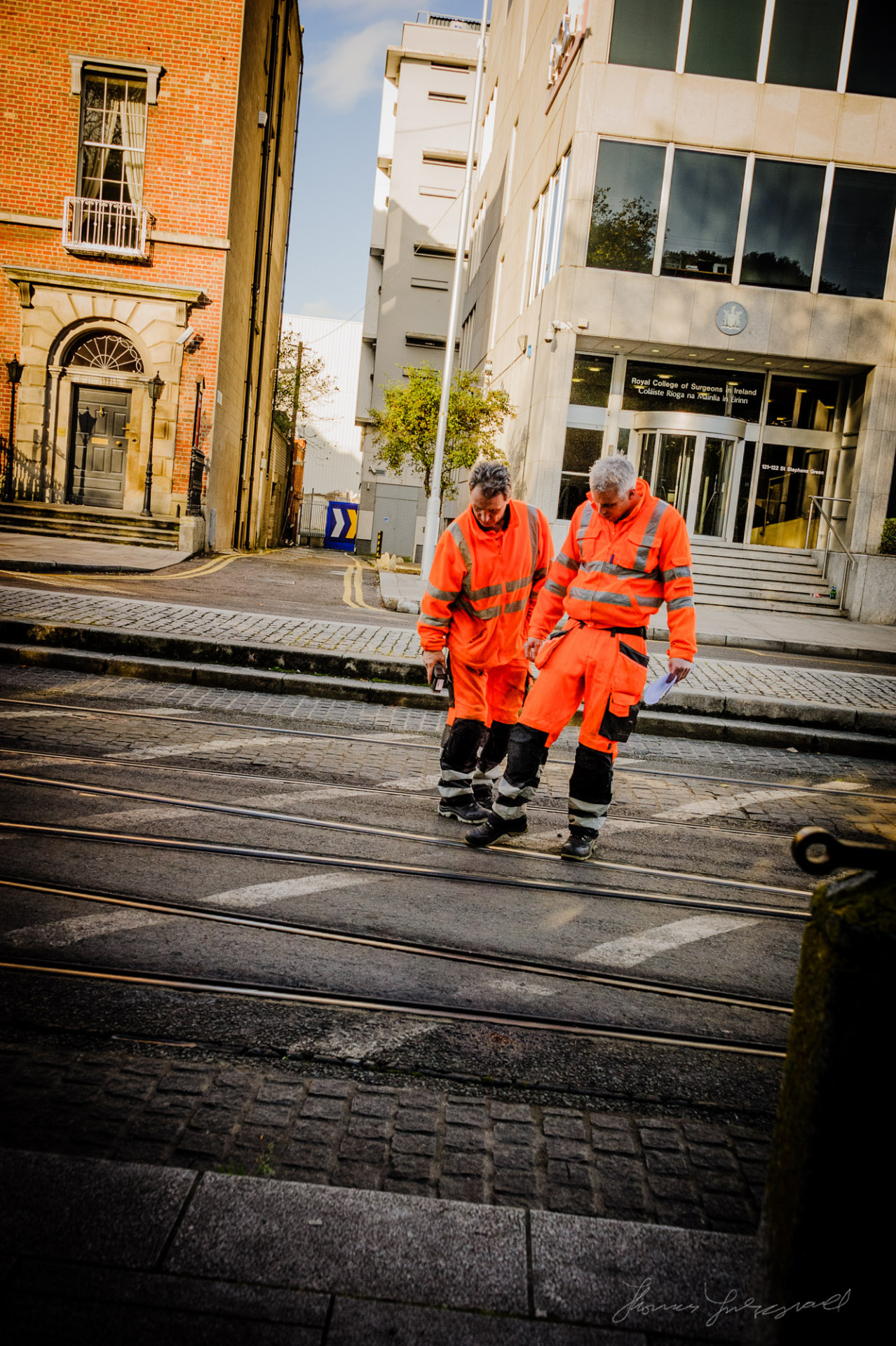 Inspecting the Luas Tracks
