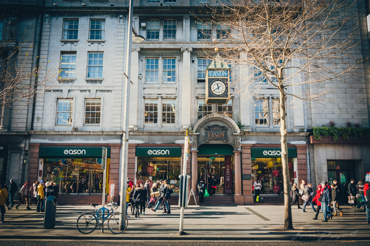 Another view of the iconic Eason bookstore and stationery shop on Dublin's O'Connell Street