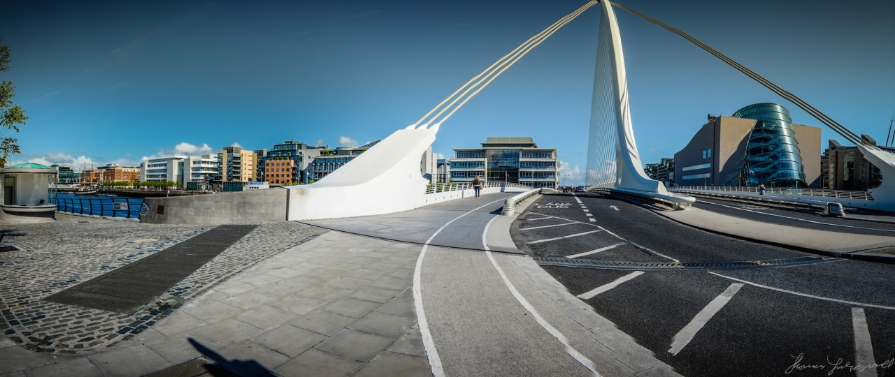Beckett Bridge Panorama   (This was a quick in-camera panorama at the time so there's a few artifacts but it's a nice view of the bridge and the river!)