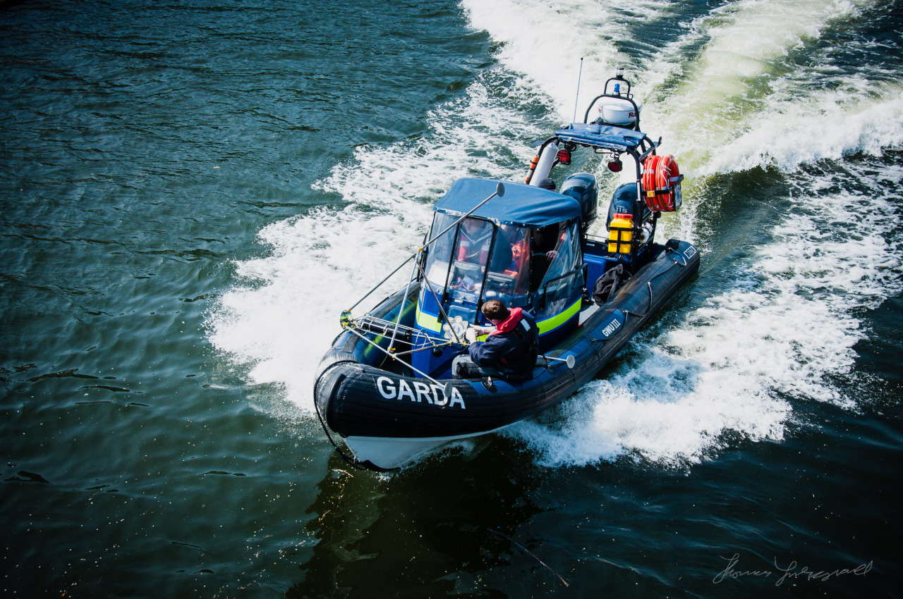 Garda Boat on the Liffey