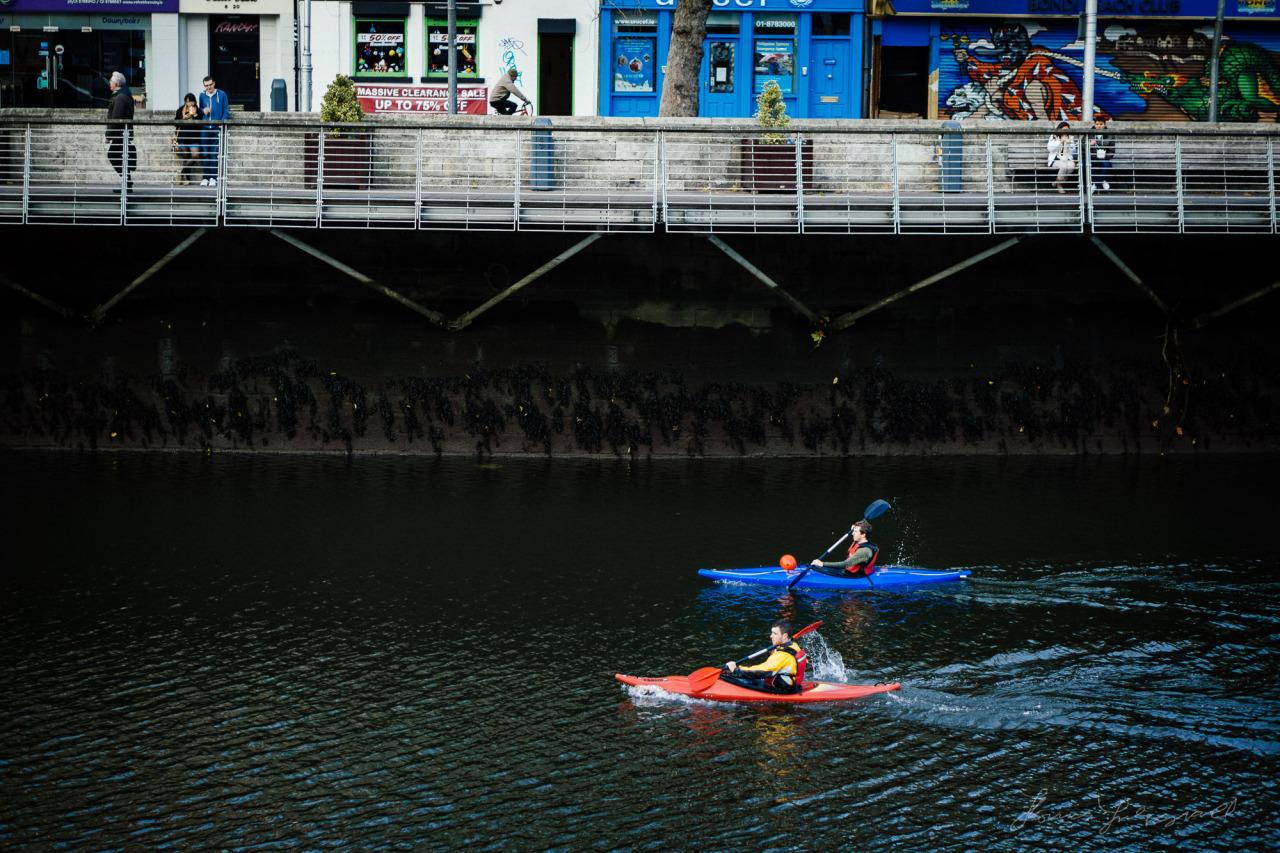 Kayaking on the Liffey