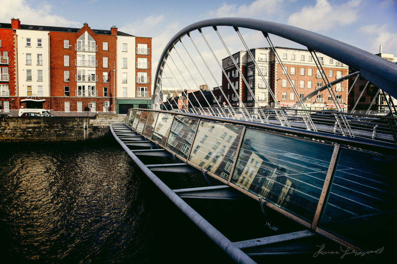 Reflections on the James Joyce Bridge