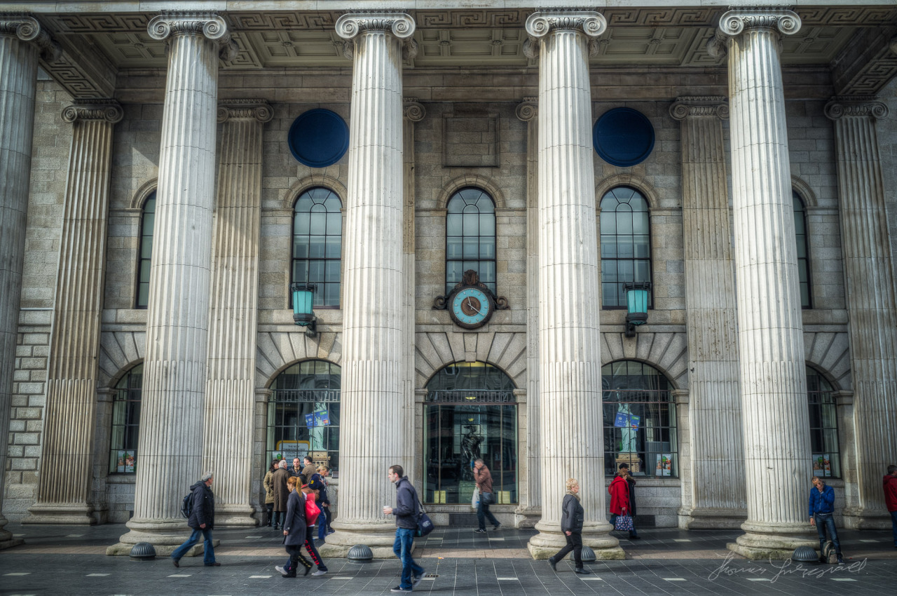 Outside the GPO on O'Connell Street