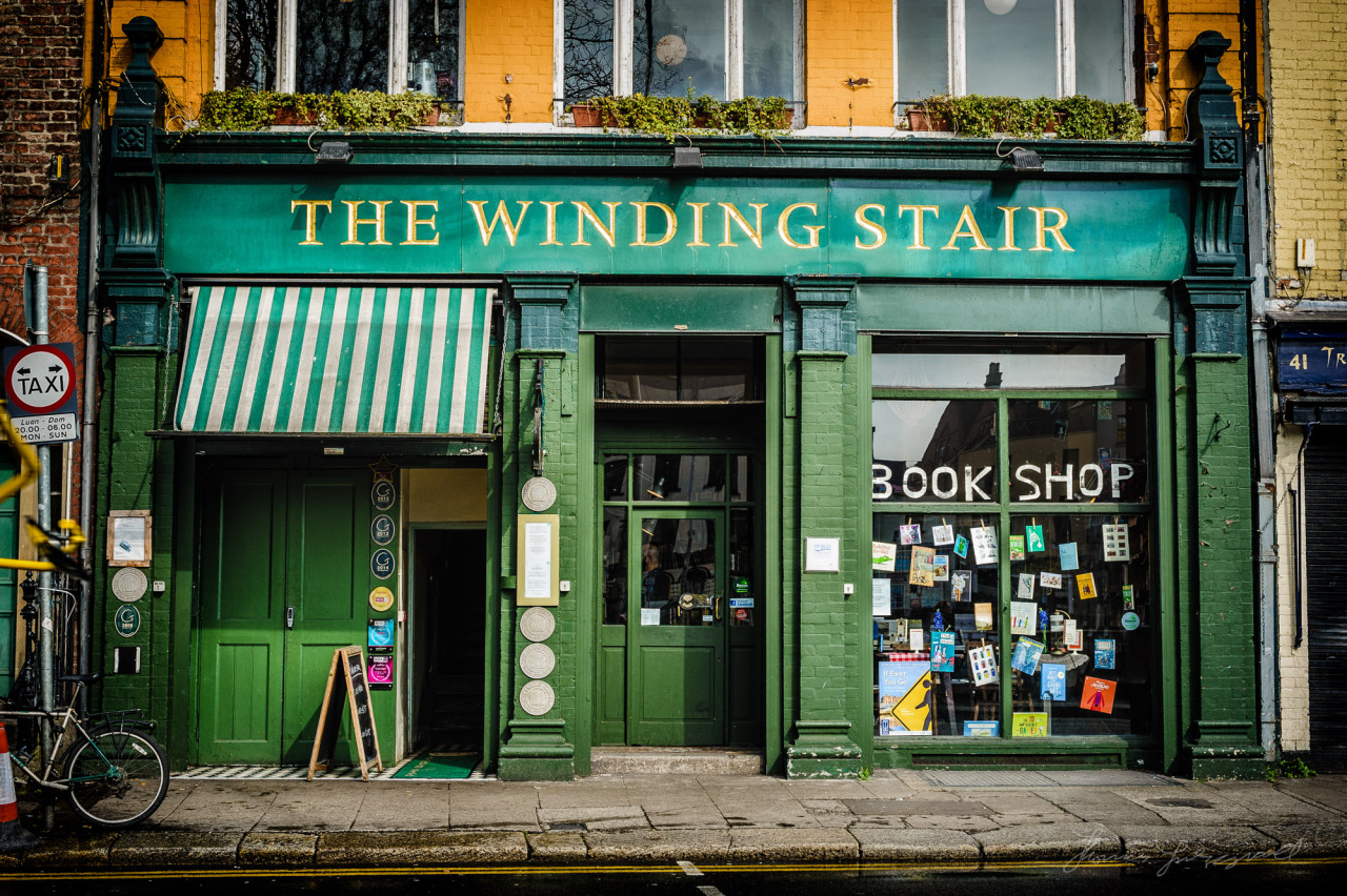 """The Beautiful """"The Winding Stair"""" Bookshop on the Quays"""