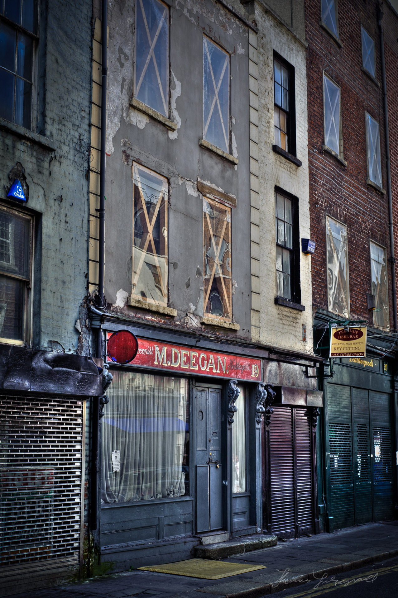 A wonderful old building in Dublin City. It's ruined facade is full of character and texture. It's been cleaned up a bit since I took this but I still love the character