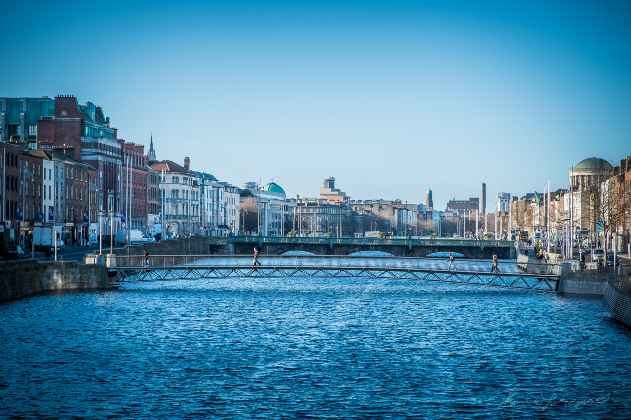 A Blue day on the Liffey